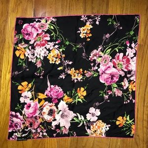 Fraas The Scarf Company Black & Hot Pink Floral